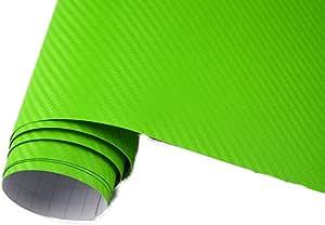 Neoxxim 4 60 M2 Premium Auto Folie 3d Carbon Folie Gift GrÜn 200 X 150 Cm Blasenfrei Mit Luftkanälen Ca 0 16mm Dick Küche Haushalt