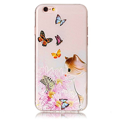 Per iPhone 6 / iPhone 6S Cover , YIGA Moda blu mermaid Cristallo Trasparente Silicone Morbido TPU Case Custodia per Apple iPhone 6 / iPhone 6S (4.7) HX46