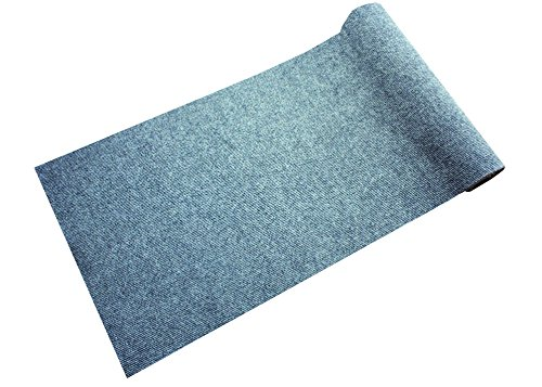 Dandy Stayfast resistente Extra largo antideslizante para pasillo, polipropileno, gris, 300x 66x 1cm