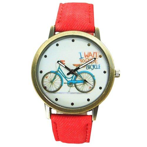 orologio-da-polso-donna-al-quarzo-bicicletta-bicycle-jeans-band-oro-rosso