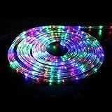 Hengda 6m Bunt LED Lichtschlauch Lichterschlauch XMAS Außen Innen Weihnachten Deko Ausstrahlungswinkel 360 Lichterkette