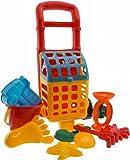 Bieco 06000216 - Trolley Set mit Sandspielzeug 10 teilig