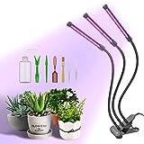 Lightswim Lampada per Coltivazione di Piante con Set di Attrezzi da Giardinaggio 7pcs, 69 LED a Spettro Completo Crescere Luce Timer 3/9 / 12H, commutazione dello Spettro, Collo di Cigno Regolabile