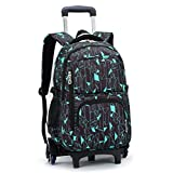 YUB High-Capacity School Bag Backpack for Girl and Boy Students Rolling Trolley Bags