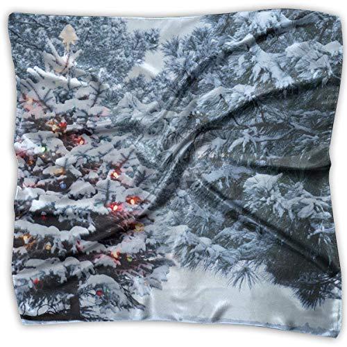 Wfispiy Christmas Tree Women's 100% Polyester Pocket Square Fashion Multi-Function Scarf Hip-pop Headscarf/Headband/Handkerchief -