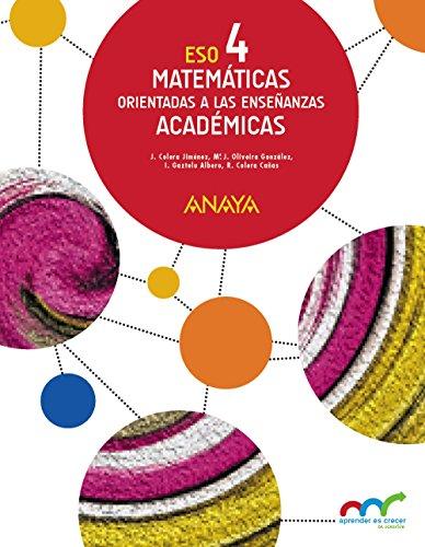 Matemáticas orientadas a las Enseñanzas Académicas 4. (Aprender es crecer en conexión) - 9788469816400
