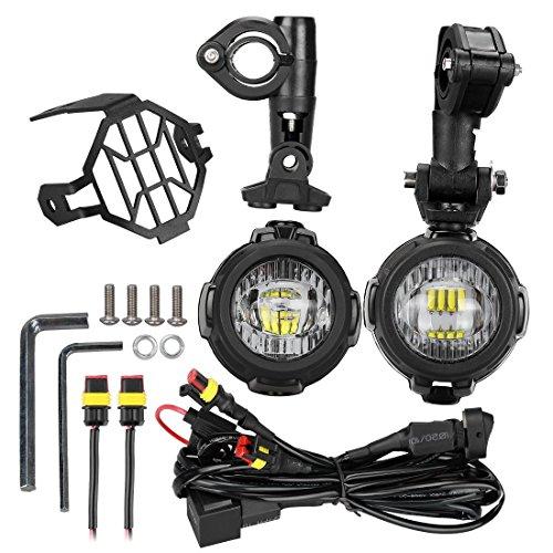 LED Faros Adicionales de Moto Luz Antiniebla 6000 K 40 W 3000...