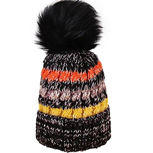 Lovemay Warme Wintermütze Strickmütze Strickmütze Hat Römische Krieger Gehörschutz mit Gesichtsmaske, 28-35cm