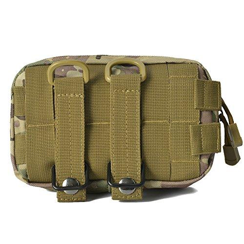 Borsa tattica MOLLE Compact EDC Utility Cintura appendente borsa a tracolla per escursionismo Arrampicata all'aperto, Freeas (verde) CP