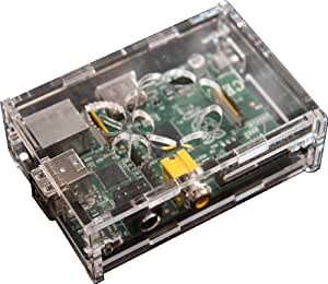 PCSL Brand - Raspberry Box SE - Clear - Special Edition - Professional Box / Raspberry pi Case for your Raspberry Pi - FREE UK Delivery from Amazon - Unique Screw design, Strong Design!!! No Clips or Plastics Lugs