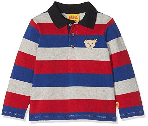 Steiff Steiff Baby - Jungen Poloshirt 1/1 Arm Poloshirt, per Pack Mehrfarbig (y/d Stripe|Multicolored 0001), 62 (Herstellergröße: 62)