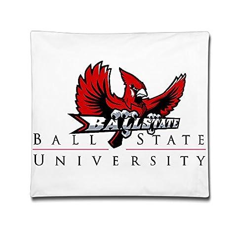 McBr Ball State University BSU Cardinals Mascot Charlie 100% Cotton Decorative Throw Pillow Covers Case