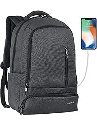Fubevod Uoobag Business Laptop Backpack Sottile antifurto Computer di Viaggio Zaini Borsa per Laptop Impermeabile per Gli Uomini/Donne con Porta USB di Ricarica 15.6 Pollici Nero