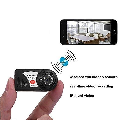 Mini P2P WiFi IP Caméra Portable Espion Mini DV Cam avec Détection de Mouvement et Vision nocturne Pour iPhone/Android Phone/ iPad /PC