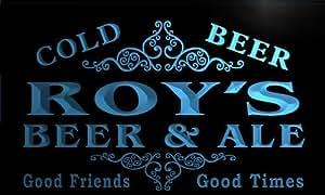 Enseigne Lumineuse qs1446-b ROY's Beer & Ale Vintage Design Bar Neon Sign