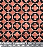 Soimoi Orange Seide Stoff Kreis Kunst geometrisch Stoff