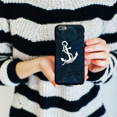 Apple iPhone 6 Housse Outdoor Étui militaire Coque Ancre Faire du bateau à voile Bateau CasDur noir