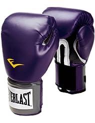 Everlast Pro Style - Guantes de boxeo de entrenamiento, color negro morado Black Orchid Talla:14 oz