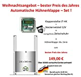 JOSTechnik Cyber Weeks Autom. Hühnerklappe+Zeitschaltuhr+Klappe!