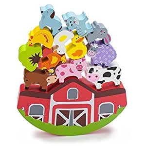Imagination Generation Wooden Wonders Balancing Barnyard Playset by Imagination Generation