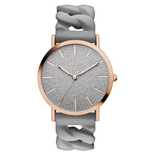 s.Oliver Time Unisex Erwachsene-Armbanduhr SO-3398-PQ