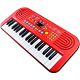 Emob 37 Key Electronic Battery And USB Operated Musical Keyboard Piano Toy With Vocalism Microphone