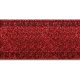 casa pura Tapis de Passage Primavera Rouge | pour Cuisine, Couloir, entrée | Poids du Poil env. 1150 g par m² - matière résistante | Tailles diverses, 66x150cm