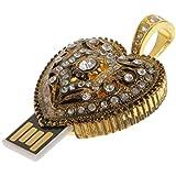 IJARP Fashion Retro Diamond Heart 4GB USB 2.0 Flash Memory Stick Pen Drive U Disk