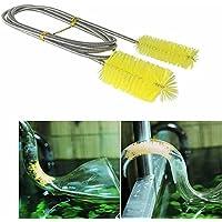 Cepillo de limpieza de acuario de doble punta de 155 cm para limpieza de peces, tubos de tanque y filtros de tuberías