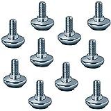 Gedotec Śruby regulacyjne M10 x 20 mm śruby regulacyjne do nóżek meblowych i stołów | śruba regulacji wysokości do ciężkich ł