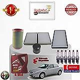 KIT TAGLIANDO FILTRI OLIO CANDELE 156 2.5 V6 24V 141KW DAL 2004