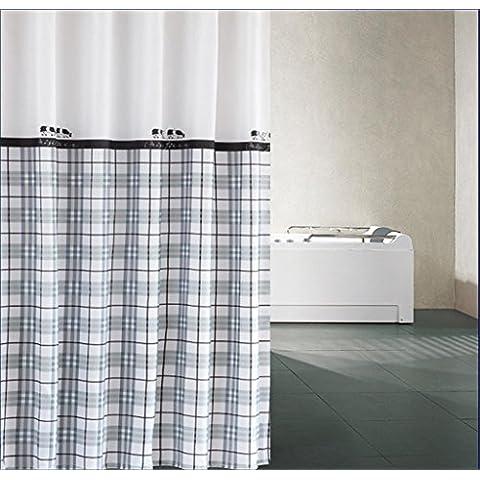 GYMNLJY fibra di poliestere ispessimento impermeabile tenda doccia Bagno Decorazione Bagno Doccia cortina di occlusione cortina di 120 *