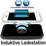 Tomaxx Wireless Ladegerät Induktive Ladestation Qi Charger Kompatibel mit Samsung