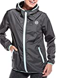 WOLDO Athletic Regenjacke Damen wasserdicht atmungsaktiv (S, grey)