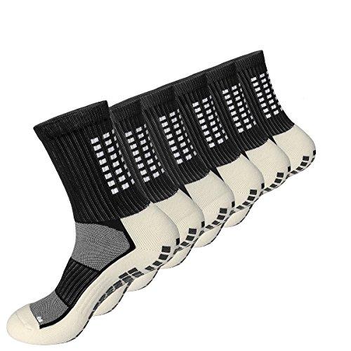 3 Paar Anti-Spritzen Anti-Rutsch Sport Socke, Weich, Schwitzfest, Atmungsaktive Sportsocken  Geeignet für Reiten, Laufen, Fußball, Baskeball Sport (Schwarz)