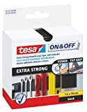 Tesa On and Off  Extra Strong Hook and Loop Tape - 50mm x 100cm, Black