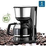 Aigostar Chocolate 30HIK - Máquina de café, cafetera, color negro, potencia de 1000 watios, capacidad 1'25 litros. Libre BPA.