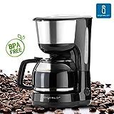 Aigostar Basic Black 30HIK - Macchina per Caffé, caffettiera, color nero, 1000 watts, capacità 1,25 litri. BPA Assente. immagine