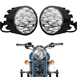 #3: Autofy Universal 9 LED Fog Lights Auxillary Light For All Bikes (Set of 2,Black)