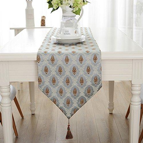BATTAR-Vintage natürlich Rechteck Tischläufer einfache moderne Floral Tischfahne für rustikale Hochzeit Bridal Shower Festival Party-Event,Tischdecke Tischläufer Wohnzimmer Küche TV-Schrank Dekoration, 2,32 * 200 cm (Handwerker Wohnzimmer Schrank)