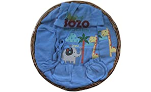 Sozo Buddies New Born (Antibacterial with Vitamin E) Premium Gift set Combo pack of 7 Items,Blue Colour (0 to 5 month)