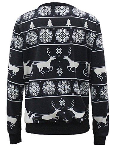 Belsen Femme Noël Sweat-shirts pull-over T-shirt Snowflake