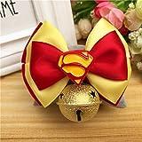 QINCH HOME Haustier Fliege Fliege Hund Krawatte Teddy Golden Retriever Katze mit Schmuck Gentleman Kragen (Color : Red, Size : L)