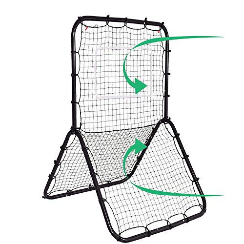 WXH Einstellbare Ziel-Baseball-Softball-Fußball-Rebounder-Pitchback-Trainingsbildschirm, Return-Trainer, Pitchback-Netz-Baseball-Schlagnetz -
