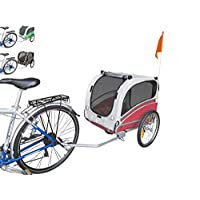 PAPILIOSHOP SNOOPY Bicycle trailer trolley for the transport dog pet with bike travel carrier dogs pets animal animals 4 bikes bicycles cycling