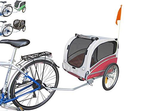 POLIRONESHOP SNOOPY rimorchio per trasporto cani cane animali carrello carrellino trasportino rimorchi da bici bicicletta dog portacani portacane porta appendice x (Rosso, Medium)