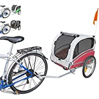 PAPILIOSHOP SNOOPY Remolque y carrito para el transporte de perro perros mascota por bici bicicleta carro