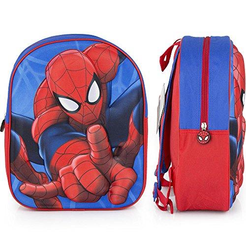 Galleria Farah1970–Rucksack Spiderman 3d Rucksack Junior Disney (31x 27x 10cm.)–Spiderman yeks–Gemacht mit Lizensiert (Galleria Grünen Teppich)