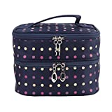Imported Women's Double-layer Toiletry Travel Wash Organizer Case Cosmetic Ma