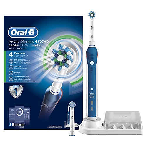 Oral-B SmartSeries 4000 CrossAction - Cepillo de dientes eléctrico recargable, con Bluetooth
